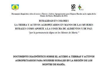 Documento diagnóstico sobre el acceso a Tierras y Activos Agropecuarios para Mujeres Rurales en la región de los Montes de María
